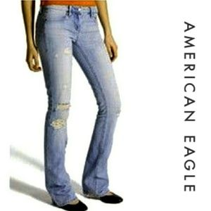 American Eagle Distressed AE Artist Jeans